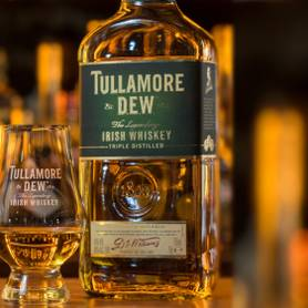 Shot of Tullamore Dew whiskey Original